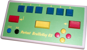 Braille Keyboards - BrailleKeyG2